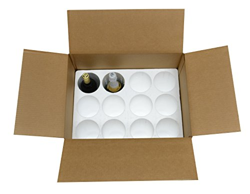 12 Bottle Styrofoam Wine/Champagne Shipping Cooler - COOL-12 (Shipping Boxes With Styrofoam)