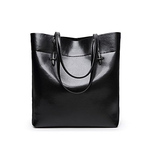 S Kaiko PU Leather Shoulder Bag Hand Bag for Women and Girls Hand Bag Tote Bag with Adjustable Strap (black) by S Kaiko