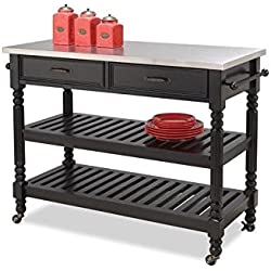 Home Styles 5218-951 Savanna Kitchen Cart, Black Finish