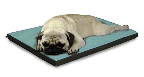 FurHaven Pet Kennel Pad | Reversible Two-Tone Water-Resistant Crate or Kennel Pad Pet Bed for Dogs & Cats, Chocolate/Blue, Small - Tone Blue Cats