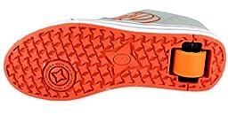 Heelys Motion Skate Shoe (Toddler/Little Kid/Big Kid), Grey/Orange, 8 M US Big Kid