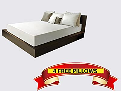 Bed 10 Inch Full Size Medium-Firm Memory Foam Mattress Bedroom, 4 Free Gel Pillows, Made In The USA