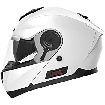 Motorcycle Modular Full Face Helmet DOT Approved - YEMA YM-926 Motorbike Moped Street Bike Racing Crash Helmet with Sun Visor for Adult, Men and Women ...