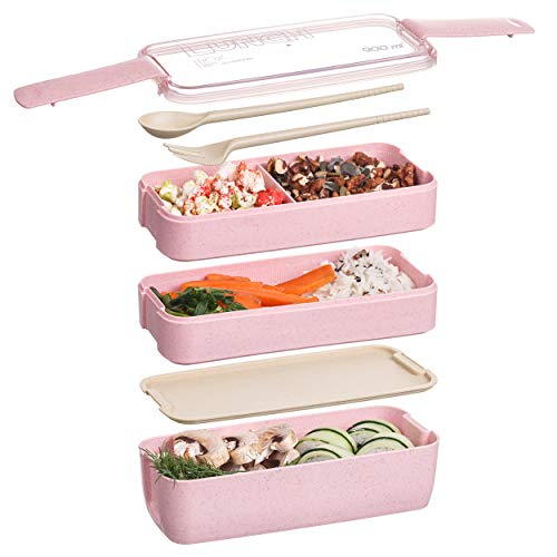 Halloween Bento Box (Bento box for kids and adults, Leakproof lunchbox with utensils, dividers, Microwave safe lunch container, Reusable bentobox japanese style BPA free for work and)