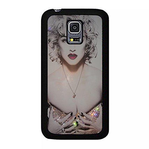 Case Shell Hot Bling Diamond Dressed Super Singer Madonna Ciccone Phone Case Cover for Coque Samsung Galaxy S5 Mini Madonna New Stylish,Cas De Téléphone