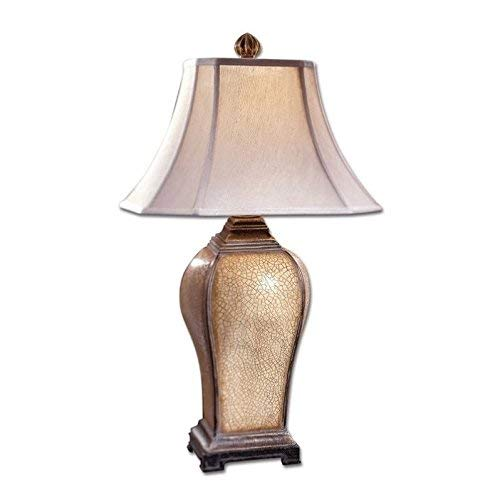 Uttermost 27093 Baron Lamp 16 x 16 x 33, Ivory, Crackle -