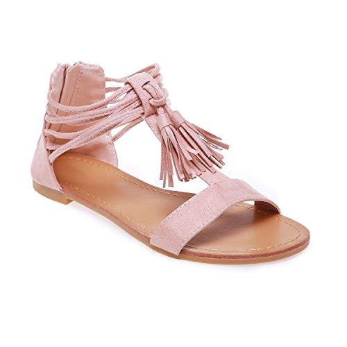 Sandales suédine en Plates Modeuse La Rose 5nWvI