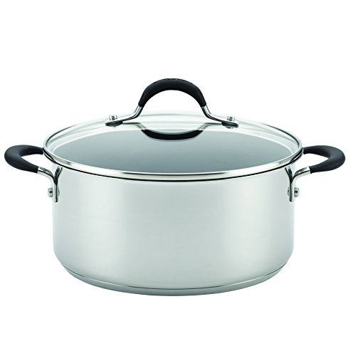 Circulon 78005 Momentum Nonstick Covered Dutch Oven, 5 quart, Stainless Steel