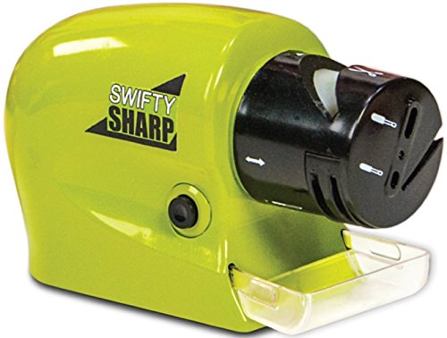 - Swifty Sharp B017K5JW9W Cordless, Motorized Knife Blade Sharpener, reg, Green