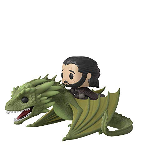 Funko Pop Rides Game of Thrones-Jon Snow w/Rhaegal Figura Coleccionable, Multicolor (44448)