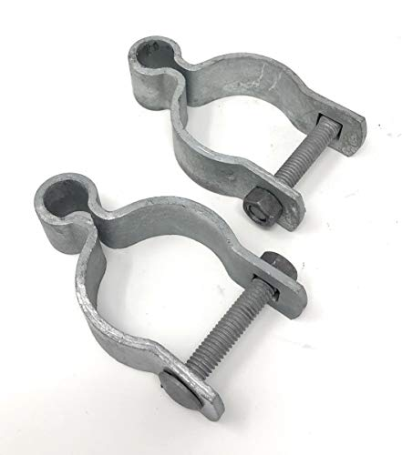 Pressed Steel Chain Link Fence Frame Hinge w/Bolt - (2 Sets Pack) (1-7/8