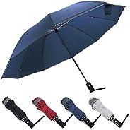 ZOORON Inverted Umbrella, Windproof Umbrella, Travel Umbrella with Teflon Coating, Auto Open Close Lightweight