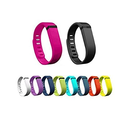 WOWOWO 10pcs Large/Small Replacement Bands With Clasps for Fitbit FLEX Only /No tracker/ Wireless Activity Bracelet Sport Wristband Fit Bit Flex Bracelet Sport Arm Band Armband