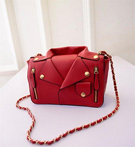 Personalità Tipo Moda Creativi Spalla Rose Lady Catena Vestiti Pacchetto Di Pu Red Diagonale Yanx 5ptqwnvx5
