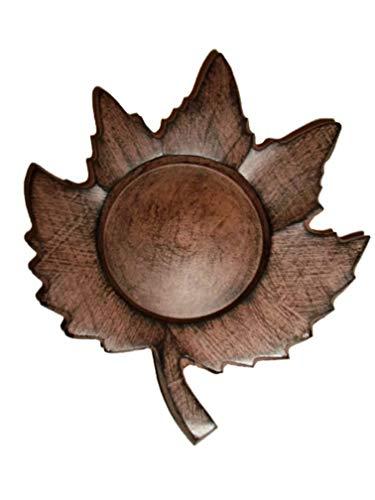 Autumn Harvest Maple Leaf Pillar Candle Holder -