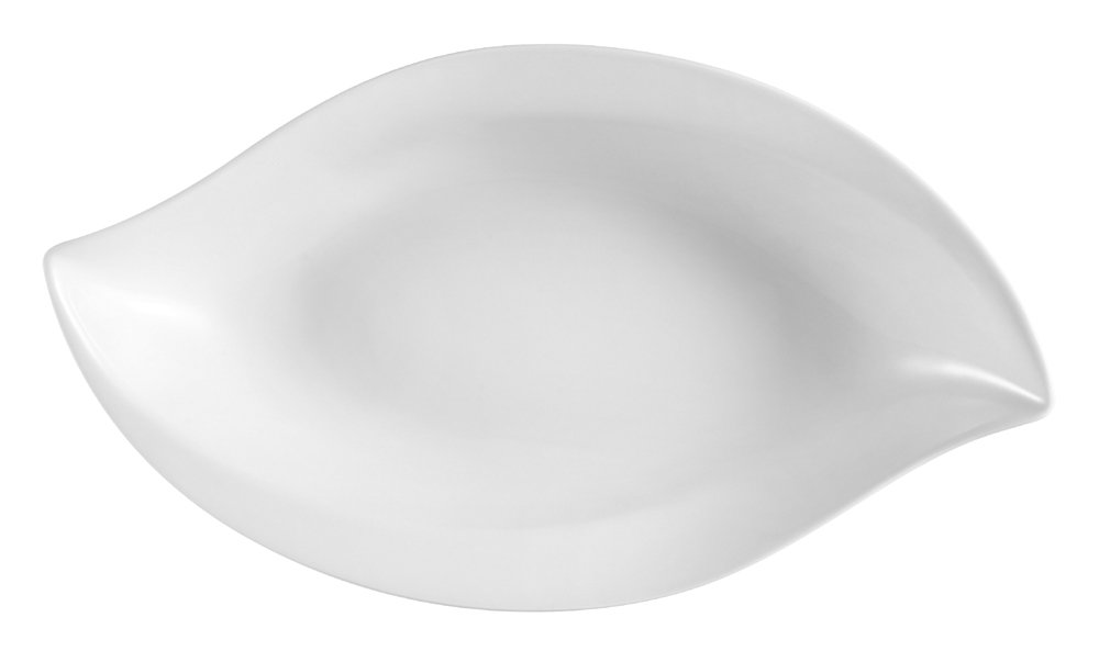 CAC China RCN-V4 Clinton Rolled Edge 4-1/2 by 2-3/8 by 3-Inch Porcelain Boat Dish, Super White, Box of 48