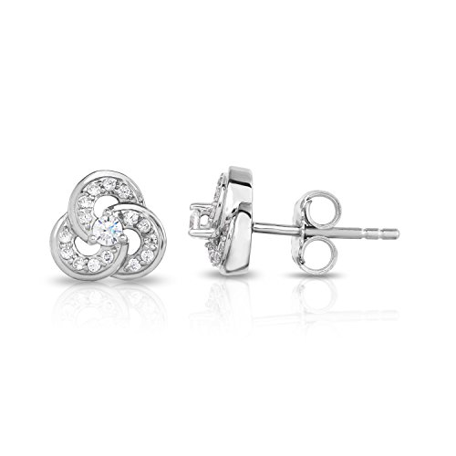 NATALIA DRAKE 1/4ctw Three Ring Diamond Earring in 10kt Gold