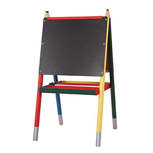 ソリッドウッドキッズイーゼル鉛筆スタイルの子供の絵スタンド両面の描画ボード赤ちゃんの教育おもちゃ