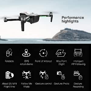 Leslaur SG906 GPS Brushless 4K Drone con cámara 5G WiFi FPV ...