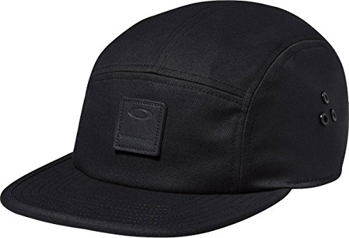 Oakley Mens Latch 5 Panel LX Adjustable Hat One Size Blackout (Webbing Latch)