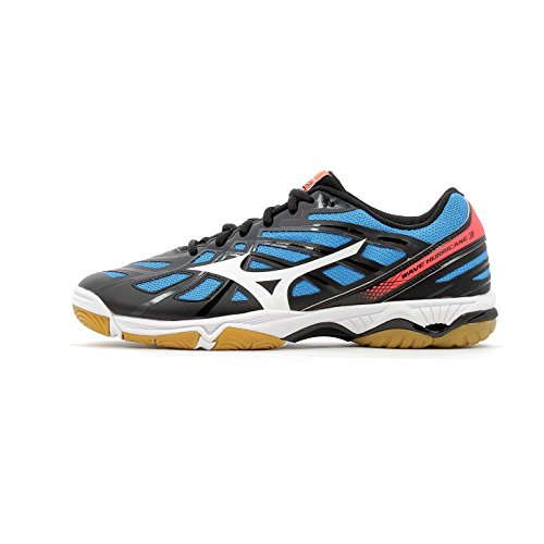 Mizuno Men Wave Hurricane Volleyball Shoes noir/blanc/orange