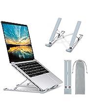 """Babacom Soporte Portatil, Aluminio Ventilado Refrigeración Soporte para Portatil Mesa, 9 Niveles Adjustable Soporte Ordenador Portátil para Macbook Pro Air, Lenovo y Otros 10-15.6"""" Portatiles"""