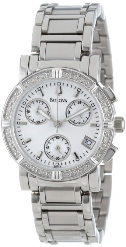 Bulova Women's 96R19 Diamond-Studded Chronograph Watch