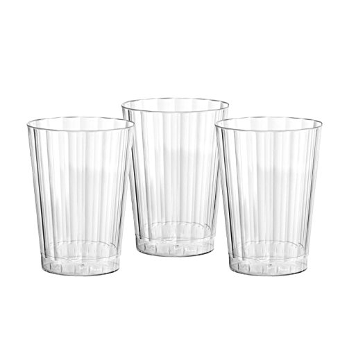 Party Essentials Deluxe/Elegance Hard Plastic 10-Ounce Party Cups/Tumblers, 80-Count, Clear