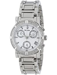 Women's 96R19 Diamond-Studded Chronograph Watch