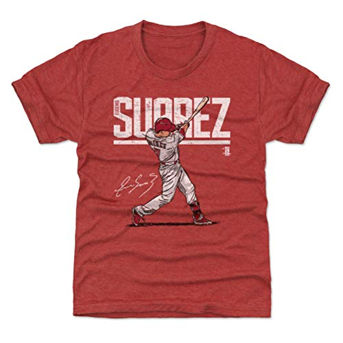 c9abb1d4a 500 LEVEL Cincinnati Baseball Youth Shirt - Kids Large (10-12Y) Tri Red -  Eugenio Suarez Hyper W WHT