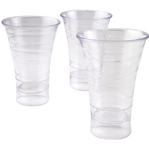Polar Ice Disposable Plastic Spiral Shot Cups, 1.75 oz., Clear, Package of 50