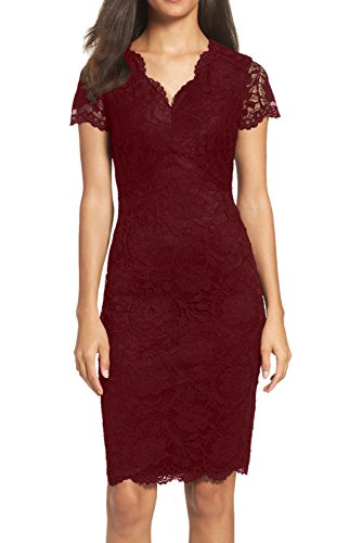 Ivydressing - Vestido - Estuche - para mujer borgoña