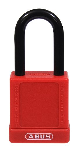 ABUS 74/40 KD Safety Lockout Non-Conductive Keyed Different Padlock with 1-1/2-Inch Shackle, Red (Locks Tools Kd)