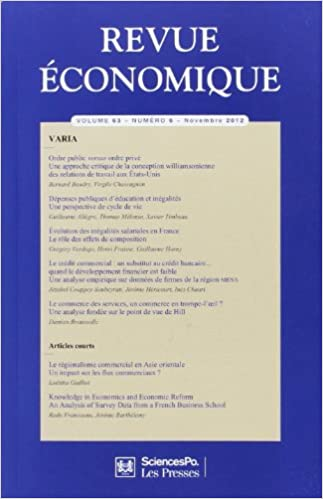 En ligne téléchargement Revue économique n63 pdf