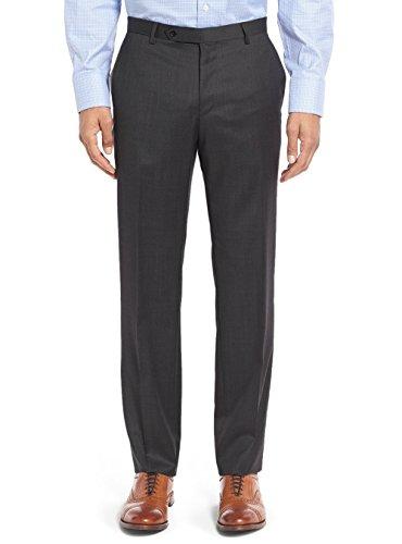 Salvatore Exte Men's Suit 3-Piece Two Button Blazer Jacket Flat Front Pants (54 Regular US / 64R EU / W 48'', Modern Fit Charcoal) by Salvatore Exte (Image #6)