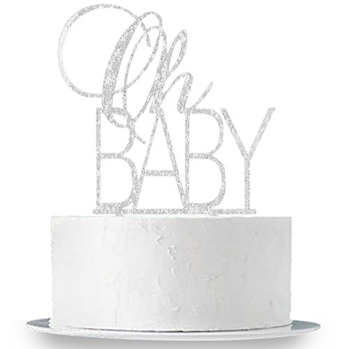 INNORU Oh Baby Cake Topper Boy and Girl Baby Shower Party Decoration]()