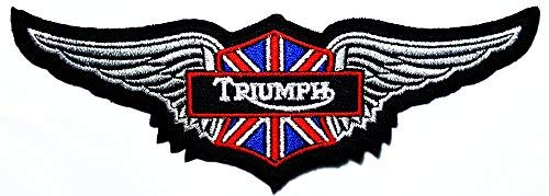 Triumph wing England Motorcycles Racing Vintage Racer Classic Biker Club logo patch Jacket T-shirt Sew Iron on Patch Badge Embroidery