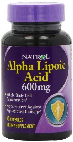 Natrol Alpha Lipoic Acid 600mg, 30 Capsules (Pack of 3), Health Care Stuffs