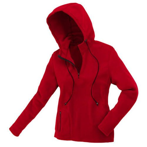 "TAIGA Women's Polartec Microfleece Long-sleeved Sweatshirt Hooded Pullover, MADE IN CANADA, 8 (bust: 36""), Red"