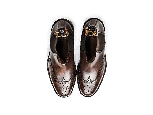 propre à chelsea de Votre personnalisé Botte Chelsea fait hommes café la cuir démarrage luxe main 100 Leather Coffee Decò Men chaussures de Luciano decò Italie en qzxfZ01W