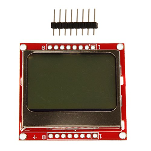 Almencla 84x48 LCD Screen Module Red Back Light for Nokia 5110 Arduino Raspberry Pi