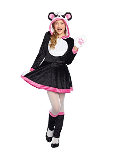 SugarSugar Girls/Tween Panda Cutie Costume, One Color, Large (Girls Panda Costume)