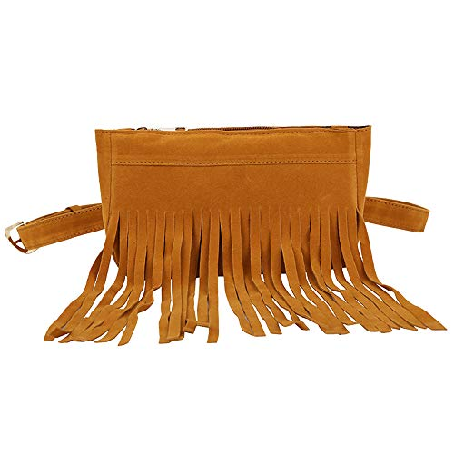 Bags Messenger Bag Tassel Messenger Brown Handbag Chest Hippie Fringe Hobo Clearance Tassels Iuhan Bag Suede Women Waist Women Women's Black Bag wxEvZq