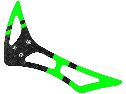 Rakon CNC 3K Pure Carbon Fiber Tail Vertical Fin Set (Black-Green) - Blade 120S