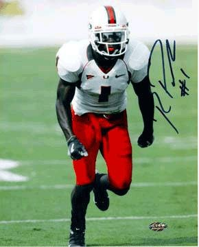 Signed Roscoe Parrish Photo - Miami Hurricanes 8x10 - Autographed College Photos Athlon