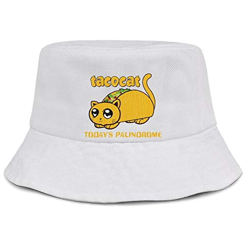 - Summer Outdoor Taco Cat Today's Palindrome Classic Bucket Hat Travel Golf Fisherman Brim Sun Protection Cap for Women