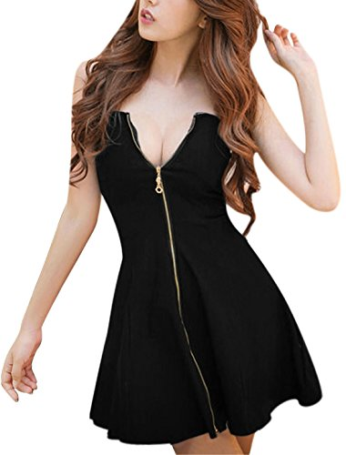 Allegra Women Strapless Exposed Zipper product image