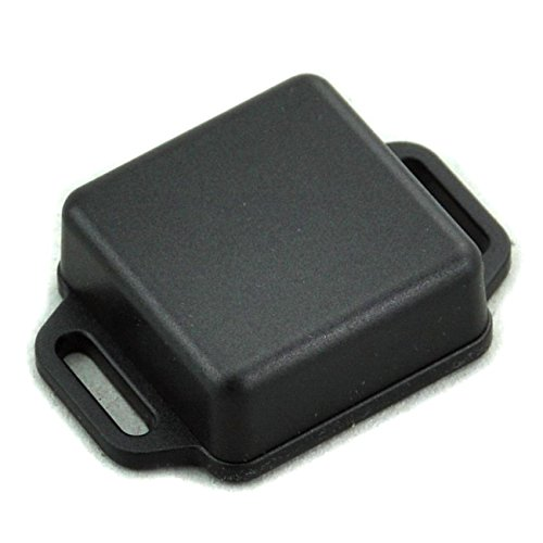 Electronics-Salon Small Wall-mounting Plastic Enclosure Box Case, Black, 36x36x15mm,.