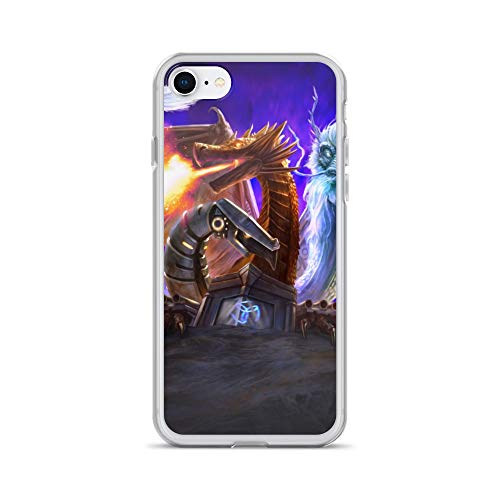 iPhone 7/8 Case Anti-Scratch Gamer Video Game Transparent Cases Cover Infinity Dragon Gaming Computer Crystal Clear