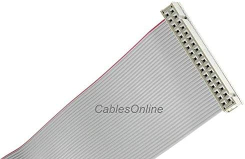 2x17 CablesOnline 34-Wire M//F Flat Ribbon 24 inch 34-Pin IDC 2.54mm-Pitch